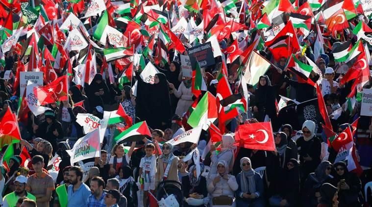 Istanbul protests, istanbul rally, Israel, Al-Aqsa mosque measures, Al-Aqsa mosque, The Big Jerusalem Meeting Turkey,