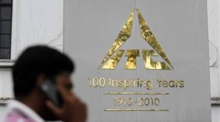 ITC plunges 13 per cent, pulls Sensex down by 364 pts