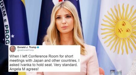 Donald Trump explains he 'asked Ivanka to hold seat' at G20 meet; Twitterati hail US' 'first unelected female president'