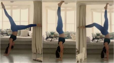 Jacqueline Fernandez shows off her flexibility, walks upside-down. Watch video to believe it