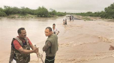 Rajasthan reels under flood, 19 rescued