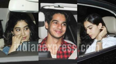 Jhanvi Kapoor is bonding with friends Sara Ali Khan and Ishaan Khatter at Sridevi's MOM screening, see photos