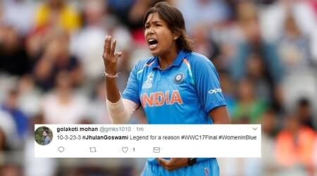 ICC Women's World Cup 2017: 'Marvellous job'! Twitterati hail Jhulan Goswami's performance