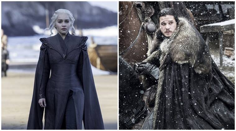 jon snow, daenerys targaryen, jon snow daenerys, game of thrones season 7, kit herrington, emilia clarke