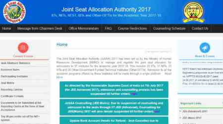 Supreme Court allows IIT-JEE admission, JoSAA releases counselling dates