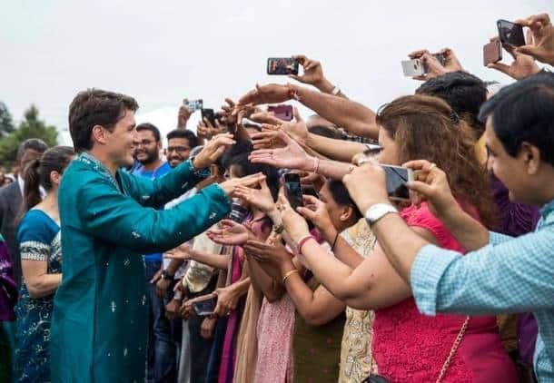 Justin Trudeau, canada prime minister, Justin Trudeau hindu temple, Shri Swaminarayan Mandir, trudeau hindu temple, indian express news,