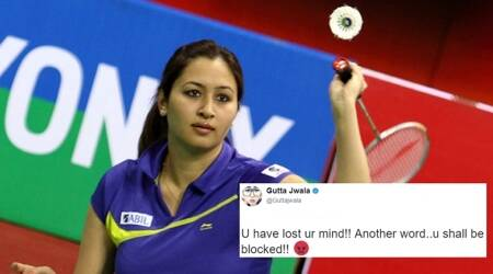 jwala gutta, jwala gutta anti-modi, jwala gutta anti-modi twitter troll, jwala gutta twitter troll, jwala gutta's reply to twitter troll, jwala gutta twitter trolling savage reply, indian express, indian express news