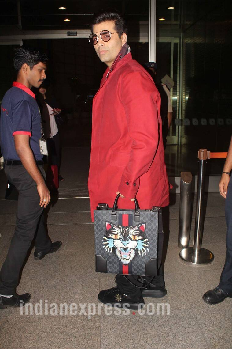 karan johar, karan johar fashion, karan johar bag, karan johar gucci bag, karan johar gucci bag cost, karan johar bag price, karan johar expensive bag price cost, indian express, indian express news