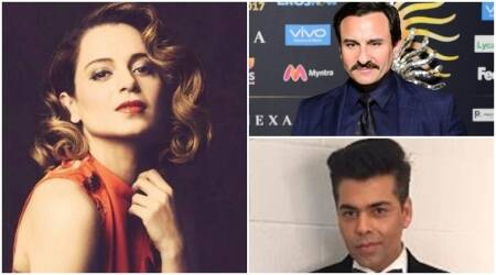 Karan Johar, Saif Ali Khan take potshots at Kangana Ranaut at IIFA 2017: Nepotism rocks