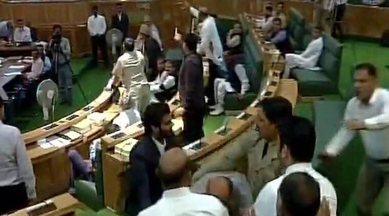 Massive ruckus inside J&K Assembly during special session on GST