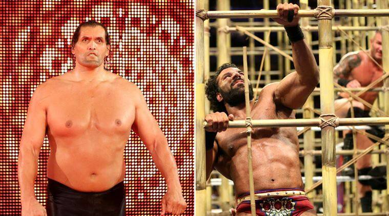 jinder mahal, wwe battleground, battleground, wwe, the great khali, khali, randy orton, punjabi prison, indian express