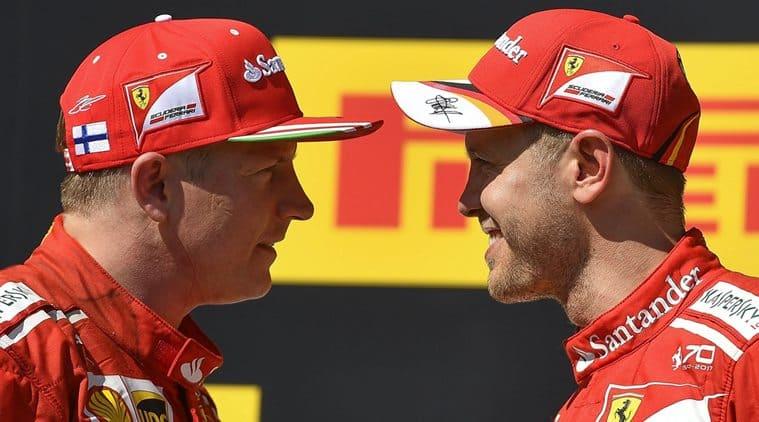Kimi Raikkonen, Sebasttian Vettel, Hungarian GP