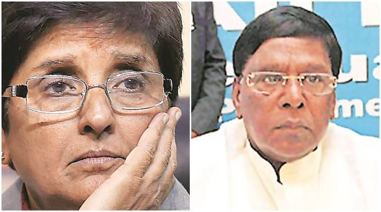 Puducherry, Puducherry politics, kiran bedi, puducherry cm vs kiran bedi, Puducherry mla nominations, indian express news