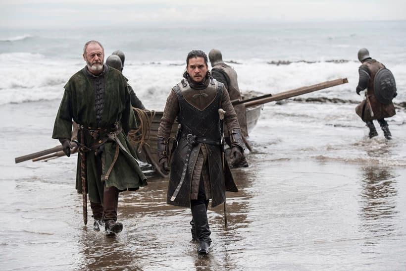 jon snow, davos seaworth, game of thrones, game of thrones season 7, game of thrones season 7 episode 3 stills