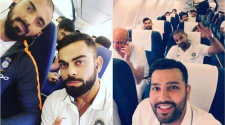 Team India's flight to Sri Lanka in pics