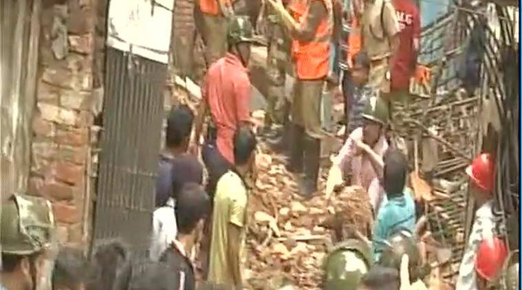 Kolkata building collapses trapping several inside