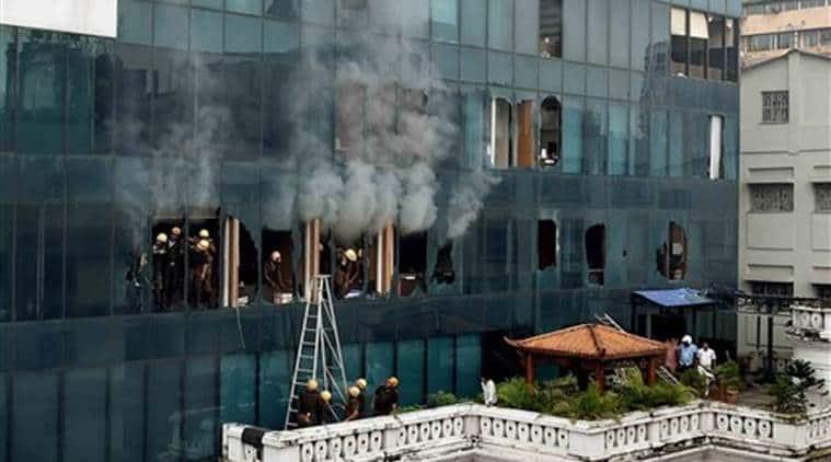Kolkata fire, pretoria street fire, kolkata building fire, kolkata fire department