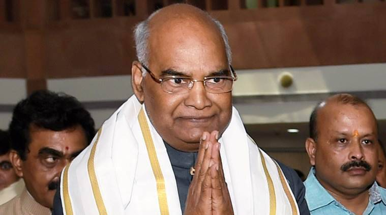 presidential elections, ram nath kovind, kovind in telangana, kovind in andhra pradesh, presidential poll campaign, indian express news, india news