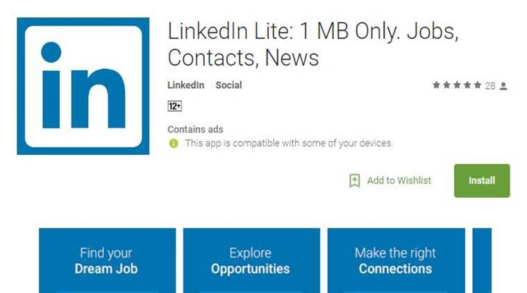 LinkedIn, LinkedIn Lite, LinkedIn Lite android app, new LinkedIn Lite, LinkedIn Lite, LinkedIn India, latest apps, technology, tech news