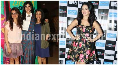 Lipstick Under My Burkha stars busy with promotions to Sunny Leone's media meet as Splitsvilla host