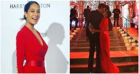 Lisa Haydon shares a romantic moment with her husband, and her post-pregnancy look is to die for. See photos