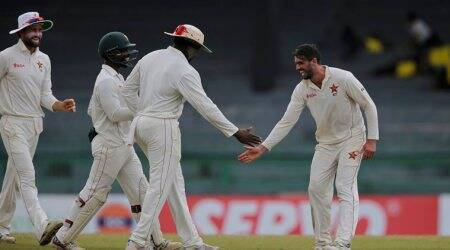 Sri Lanka chase record total to beat Zimbabwe by four wickets in one-offTest