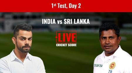 India vs Sri Lanka Live Score 1st Test Day 2: India reach 503/7 at Lunch against Sri Lanka