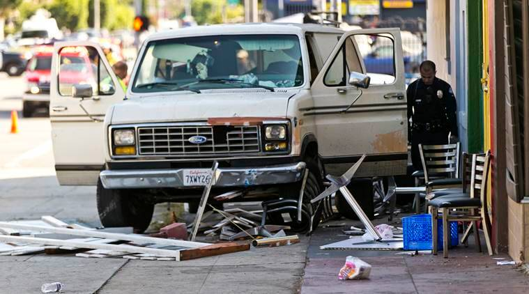 Los Angeles, Los Angeles van crash, Los Angeles van accident, United states, World news, Indian Express news
