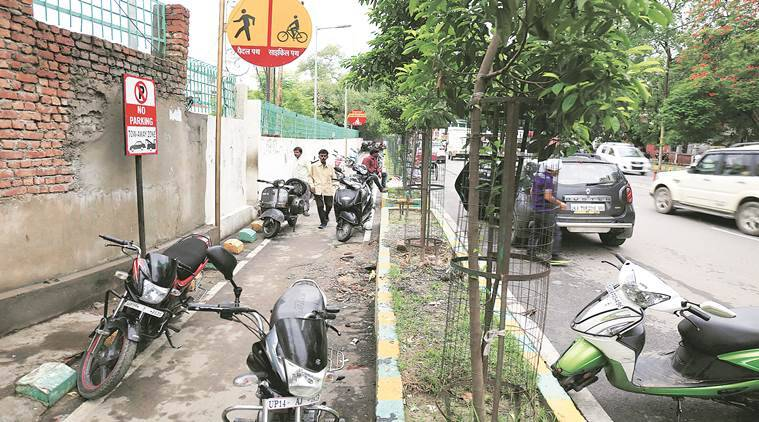 demolish cycle tracks, Cycle track Akhilesh yadav, Yogi adityanath cycle track, Adityanath Akilesh Yadav, Indian express, india news, Latest news
