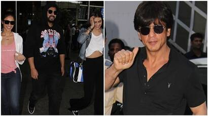 Mubarakan actors Arjun Kapoor, Ileana D'Cruz and Athiya Shetty return to Mumbai, Shah Rukh Khan promotes Jab Harry Met Sejal