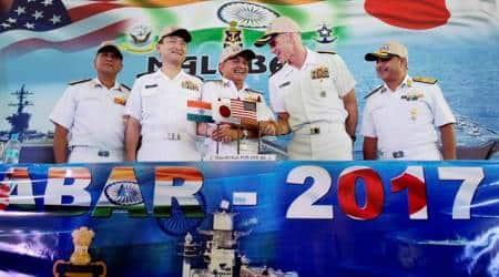 Malabar war games: India-US-Japan field their largest warships in navyexercise
