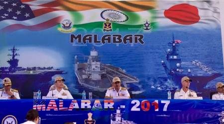 Tri-nation Malabar Naval Exercise in Bay of Bengal begins