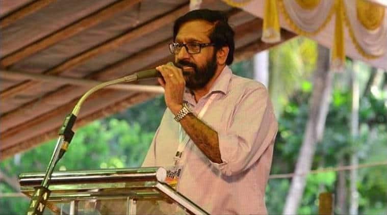 Malayali author K P Ramanunni, K P Ramanunni, Ramanunni, threat letter, Kozhikode, Kerala, Indian Express news