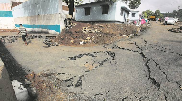 road construction, Pune road construction, Malin, malin cracked roads, pune news,