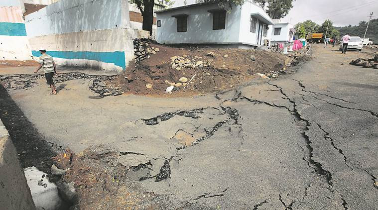 road construction, Pune road construction, Malin, malin cracked roads, pune news,