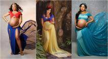 wonder woman, disney princess, maternity photoshoot, disney inspired maternity photos, disney princess pregnant, wonder woman pregnant, unusual mathernity photo them, disney maternity photo themes, viral photos,