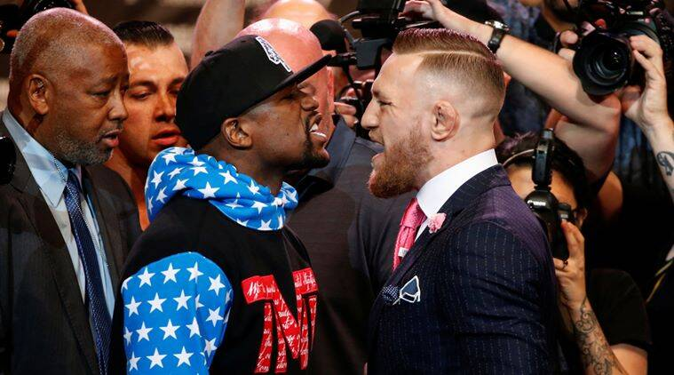 Dana White Steps in During Floyd Mayweather vs. Conor McGregor Face-Off
