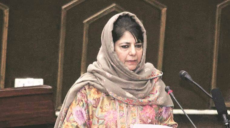 mehbooba mufti news, n n vohra news, india news, indian express news