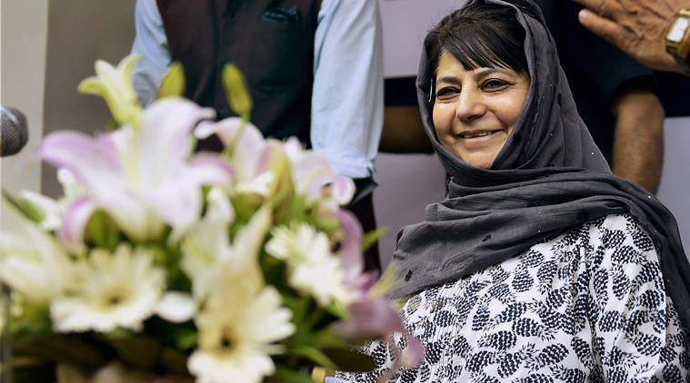 jammu kashmir, mehbooba mufti, panchayat elections, kashmir, kashmir polls, rajnath singh, india news, indian express