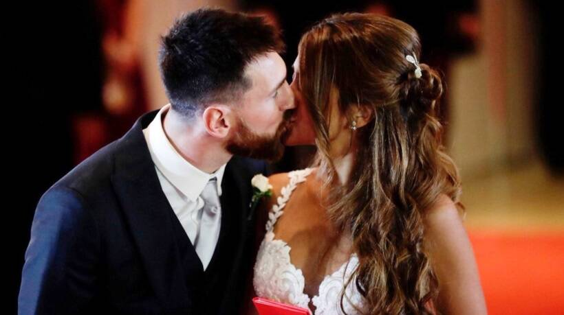 Lionel Messi, Messi marriage, Messi Antonella Roccuzzo wedding, Antonella Roccuzzo Lionel Messi wedding photos, Messi wedding photos, indian Express