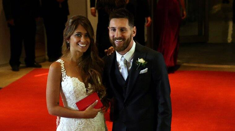 lionel messi, messi wedding, messi wedding videos, messi wife, Antonella Roccuzzo, messi Roccuzzo video, football news, sports news, indian express
