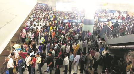 Delhi metro's blue line glitch gives city rainy day blues