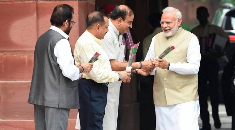 Narendra Modi, Bouquet, Bouquet for PM, Ministry of Home Affairs