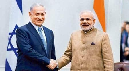 Prime Minister Narendra Modi, Indian PM Narendra Modi, Israel, Israel PM Benjamin Netanyahu, Narendra Modi Israel, India News, Indian Express, Indian Express News