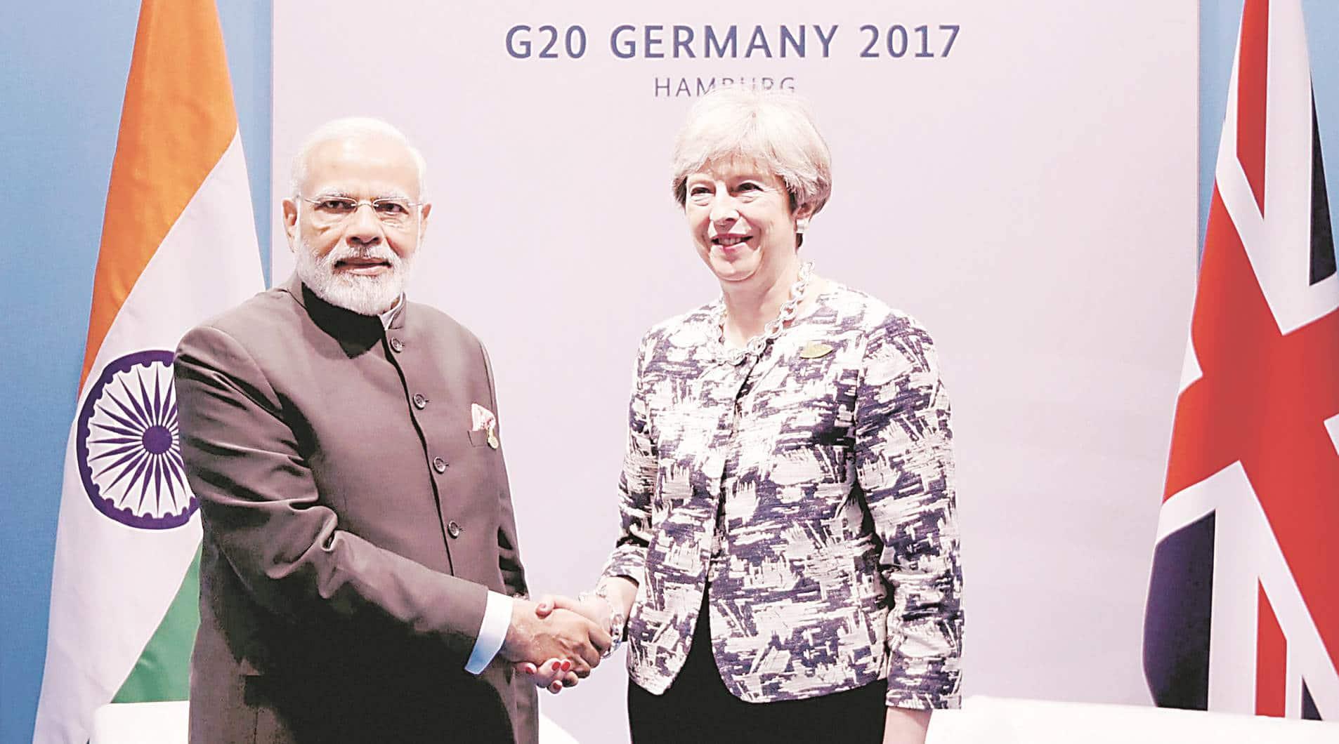 G20 Summit, G20 modi theresa may, g20 modi, Modi Vijay Mallay, indian express, india news