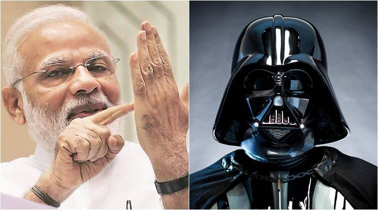 narendra modi, GST rollout, narendra modi gst roll out, narendra modi darth vader music, darth vader imperial march music, modi gst speech darth vader music, modi gst speech darth vader music video viral,modi star wards may the force be with you, indian express, indian express news