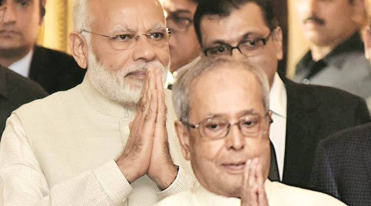 Prez Mukherjee and PM Modi praise each other