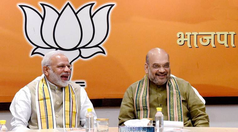 pm modi, amit shah, bjp, vice president election, indian express