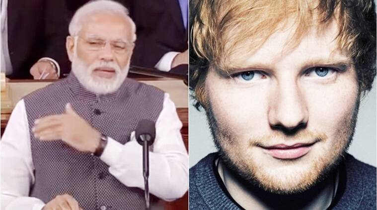 narendra modi, narendra modi shape of you, narendra modi video, narendra modi ed sheeran shape of you cover, ed sheeran, shape of you cover, indian express, indian express news