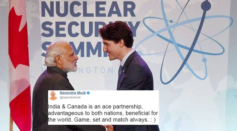 narendra modi, justin trudeau, modi and trudeau's twitter exchange, twitter reactions on trudeau and modi, indian express, indian express news